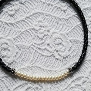 Brighton Jewelry - Brighton leather and pearl necklace